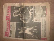 MELODY MAKER MAGAZINE / NEWSPAPER JANUARY 3 1981 ELVIS COSTELLO STEVE WINWOOD