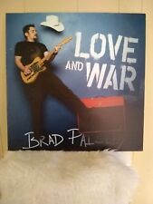 BRAD PAISLEY - LOVE AND WAR 24x24 Very Rare PROMO POSTER BOARD #1 COUNTRY ALBUM!