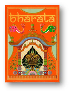 Bharata Playing Cards Rare Indian Deck Holographic Gold Gilded Poker