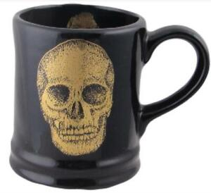 Skull Design Pottery Mug Hand Decorated Carters of Suffolk Birthday Gift Idea