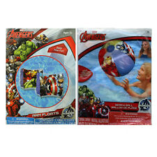 Marvel Avengers Swimming Armbands Arm Floaties + Beach Ball NEw 3+