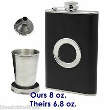 8oz Pocket Stainless Steel Hip Flask Funnel Whiskey Wine Liquor Drinking Alcohol