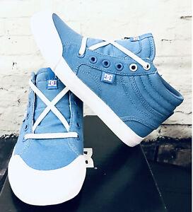 DC Shoes EVAN HI TX GIRLS CANVAS HIGH TOP SKATEBOARDING SIZE 2