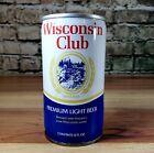 Wisconsin Club Premium Light 12 oz Bottom Opened Steel Pull Tab Beer Can Huber