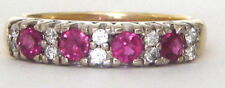 $6,500 London Assay Office Hallmarks 1.25ct Ruby Diamonds 18k Yellow Gold Ring