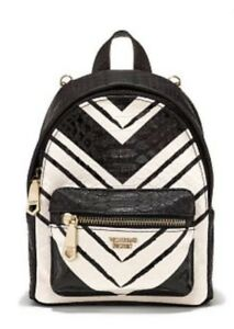 Victoria Secret Wicked Mini City Backpack Black And White NEW