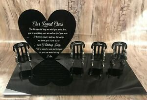 Loved Ones in Heaven Wedding Memory Table Top Plaque Centrepiece