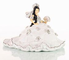 Les Dames Anglaises Co Gypsy FANTASY robe blanche BRUNETTE DOLL FIGURE NEW BOX