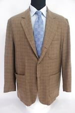 Pendleton Topsman 3Roll2 Limited Edition Sport Coat Brown Check Tweed Wool XL