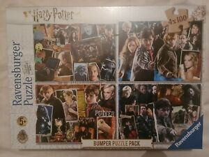 Harry Potter Jigsaw Puzzle 4 x 100 Piece Bumper Pack Ravensburger NEW SEALED