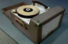 4 ☆ SPEED Vintage AUDIOTRONICS TRANSISTOR 300A CLASSROOM RECORD PLAYER TURNTABLE