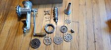 Griswold meat grinder and accessories and sausage tube number 2 casting 463