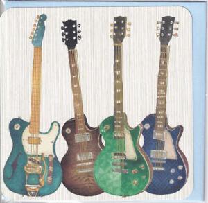 Electric Guitars Greetings Card birthday Nigel Quiney Happy Birthday