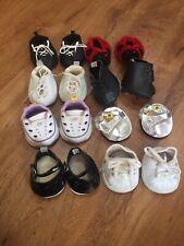 Lot Of 8 Build A Bear Shoes Roller Skates Sandals Cleats Light Up Tennis Shoes