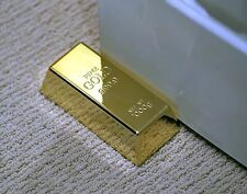 Realistic Gold Bar Doorstop Novelty Toy Birthday Prank Gift Joke Paperweight