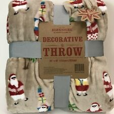 Berkshire Blanket Throw Beachin Santa Soft Funny Plush Decor Christmas Fun 60x80