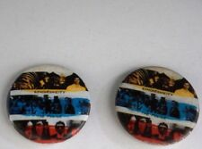 """Vintage Retro Rare 1983 Police Synchronicity 1"""" Pin Badge Button Two Count Lot"""