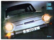 Skoda S100 & S100 L Saloon 1971 UK Market Sales Brochure