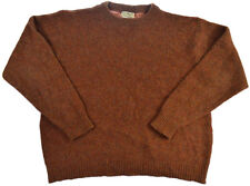 Vintage LL Bean Sweater XL Wool Mens Rich Knit Brown Blend Made USA