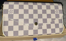 Louis Vuitton Pochette Felicie White Damier Azur Canvas Shoulder Bag AUTHENTIC