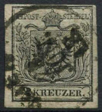 Austria 1854 SG#7, 2k Black Type III Used #A96488