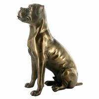 Bronze Sculpture Boxer Dog Statue Ornament Figure Ideal Gift for a Dog Lover
