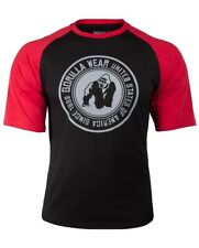 🦍 UK 2XL. Genuine Gorilla wear Texas T-Shirt. Black/Red. New+tags. Gym. Fitness