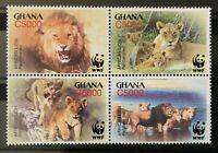 WWF - Ghana - Afrikanischer Löwe - 2004 - kpl. Satz - perfekt erhalten - **/MNH