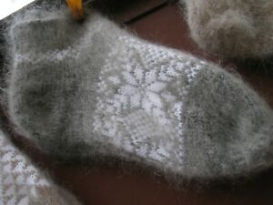 women's Slippers Low Cut Ankle Socks  goat down cashmere Homemade Russian craft