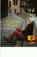 LUCINDA WILLIAMS WORLD WITHOUT TEARS 2003 ORIGINAL PROMO POSTER