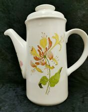 "ROYAL WORCESTER PALISSY large coffee pot Honeysuckle design. 10.5"" High (D1)"