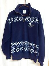 Disney Store Mickey Ski Lodge Navy Fleece Jacket Blue with Snowflake- Medium
