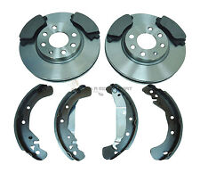 VAUXHALL COMBO VAN 01-11 FRONT 2 BRAKE DISCS & PADS & REAR SHOES CHECK CHOICE