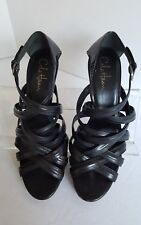 Cole Haan Black Leather Strappy High Heels ❤️ Size 9.5 ~ Made in Brazil