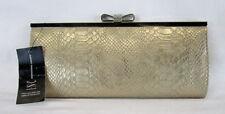 INC INTERNATIONAL CONCEPTS CAROLYN Gold Exotic Clutch Bag Msrp $49.50