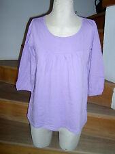 T-Shirt Tunika Hängerchen Shirt Pulli Pullover flieder Gr. 36 38