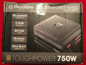 THERMALTAKE TOUGHPOWER 80 PLUS GOLD 750w WATT POWER SUPPLY NEW