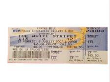 The White Stripes Concert Ticket Montreal 2007 Memorial White Stripes Show