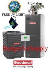 2 ton 14 SEER 410a Goodman A/C System GSX140241+ARUF29B14 +tstat+UV Light Kit