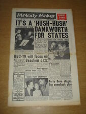 MELODY MAKER 1960 MAY 14 JOHNNY DANKWORTH SAMMY DAVIS BEAULIEU JAZZ NITWITS +