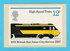 Post Office británico-escaso PHQ tarjetas Nº 12 D-Tren de Alta Velocidad - 1975