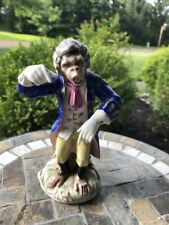 Antique Porcelain Figure - Monkey Band Conductor - Meissen Style