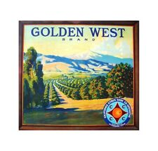Golden West fruit crate label art poster home decor products