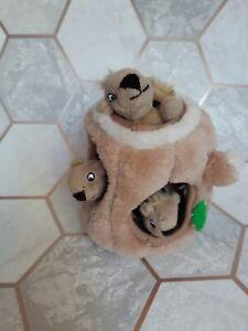 Outward Hound Hide-A-Squirrel Squeaky Puzzle Dog Toy, Pet Brain Trainer Toy