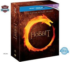 The Hobbit Trilogy Blu-ray 2015 Region Free NEW Disc Set The Motion Picture Box