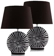 2x Tischlampe Tischleuchte Nachttischlampe Schreibtischlampe Lampe Keramik 5031