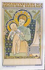 ADOLPHE CRESPIN - Original Vintage Poster - Creche-Ecole Gardienne - 1896