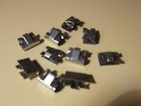 CLASSIC MINI COOPER & RILEY ELF ,DASH BOARD CHROME  TRIM CLIPS.(10 CLIPS)