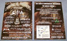 Chronical Moshers Open Air 2012  - Promotion Flyer - Mühlteich / GER