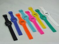 Rubz Classic Retro Vintage Style Digital Watch With Light Silicon Jelly Unisex